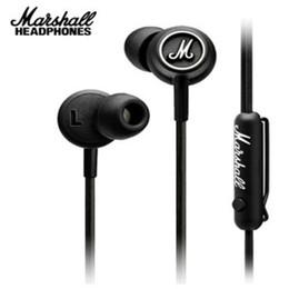 orelha telefone mic dhl Desconto New Marshall MODE Fones De Ouvido Em Fone de Ouvido Preto Fones De Ouvido Com Microfone HiFi Ear Buds Fones De Ouvido Universal Para Telefones Celulares DHL Livre EAR204
