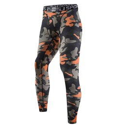 Wholesale Paintings Basketball - Wholesale-Camo Compression Pants Mens Sports Running Tights Basketball Gym Pants Bodybuilding Male Jogger Jogging Trousers Skinny Leggings