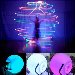 shining light Promo Codes - LED POI Thrown Balls Decorative Light Shining Color Change for Professional Belly Dance Level Hand Props