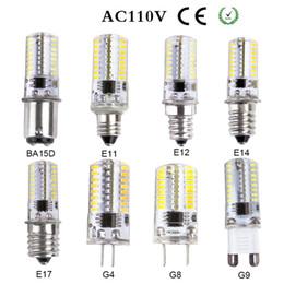 Wholesale E11 Led Bulbs - LED lamp G4 G8 G9 E11 E12 E14 E17 BA15D corn Bulb AC 220V 110V 7W 12W 15w LED light spotlight bulbs