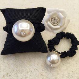 Wholesale Goddess Hair Band - 30MM pearl ring fabric fashion goddess pearl hair rope FS00119