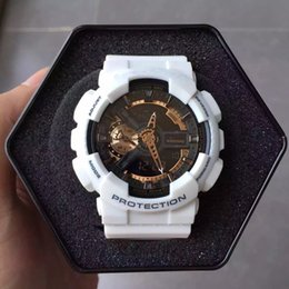 Wholesale Metal Watering - 2017 Mens Brand Luxury Sports Watches with metal box Outdoor Multifunction Wristwatch G Men's Clock Shock Watch From China kol saati