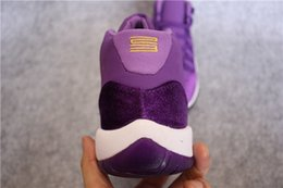 Wholesale Cheap Bonds - Hot 11 XI Purple Velvet Heiress 2017 New Men Boy Women Girl Basketball Sport Shoes Wholesale Sneakers Size 5.5 13 Cheap