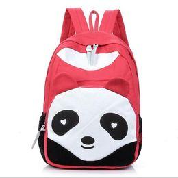 Wholesale Cheap Rucksacks - Fashion Cute Panda Vintage Canvas Backpack Rucksack School Bag Satchel for Teen Girls and Boys lovely Cheap 2017 Hot