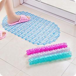 2019 mat saugen Plain Tropfen Oval PVC Wasserdicht Saugnapf Sucker Transparent Anti Slip Dusche Badematte Bad Teppich Badewanne Wc-teppiche günstig mat saugen