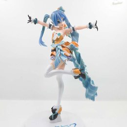 Wholesale Anime hatsune miku Orange Blossom Ver PVC Action Figure Figurine Model Toy New In Box