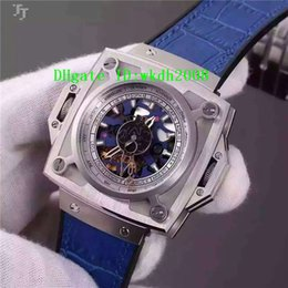 Wholesale Mechanical Watches Skeleton Square - Luxury Brand Brushed Titanium Stainless Steel Square Automatic Men's Watch Tourbillon Skeleton Dial Leather Strap Casual Men Wristwatches