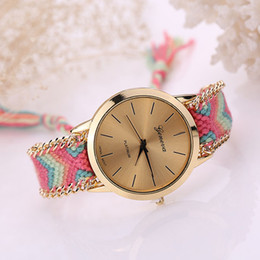 Wholesale Manual Pull - wengle 2017 new Geneva Sell like hot cakes manual weaving Pull rope Hand catenary contracted watch