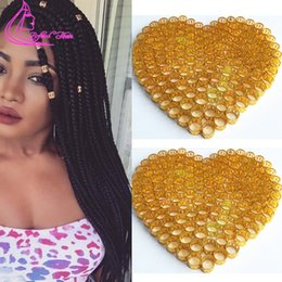 Wholesale Cheapest Micro Hair - Wholesale-Cheapest 100Pcs 7 Colors Dreadlock Beads Adjustable Cuff Micro Rings 8.5MM Hole Metal Tube Lock On Hair Beads Braids