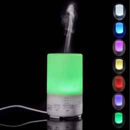 Wholesale Aroma Diffuser Purifier - Traveling Portable Mini Humidifier USB Air Purifier for Car Essential oil Aroma Diffuser with 7 Colors LED Mood Lights