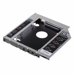 Wholesale Caddy Adapter Bay - Wholesale- 12.7mm SATA HDD SSD Hard Drive Caddy Optical DVD Bay Adapter For Asus K53SV VCQ06 P10