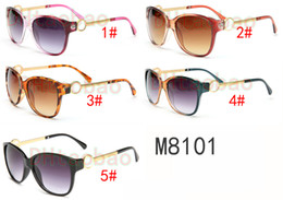 Wholesale Printed Sunglasses - summer Women Uv metal sunglasses drving sunglasses, cycling eye sunglasses beach fashion leopard print glasses high quality free shipping