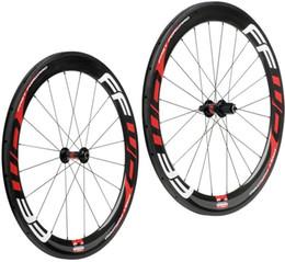 Wholesale Toray Carbon Rims - Road Bicycle Carbon Wheels 60mm 3K Super Light Toray T700 Carbon Clincher Rims Novatec A271SB F372SB hubs Pillar PSR Aero spokes