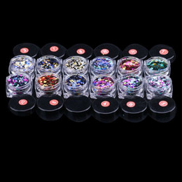 Wholesale Colourful Nail Tips - Hot selling new item Nail Art Round Decorations New MinThin mixed colourful 1-3mm designs giliter pailettes nail art tips stickers 12pcs set