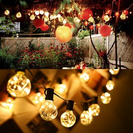 nets bulbs Coupons - 18ft Copper Wire G40 Globe String Light with 25 Clear Bulbs Outdoor Indoor Garden Party Wedding Patio Lights Christmas Decoration Light