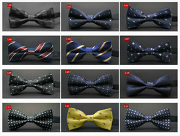Wholesale Men S Stripe Bow Ties - 23colors new men`s bow ties high quality men`s bowties adjustable size best for suit free shipping by DHL