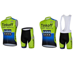 Wholesale Saxo Bank Pink - 2017 Pro Team Saxo Bank Tinkoff Cycling sleeveless Jersey summer men Tour De France Cycling Clothing Bicycle Clothes Maillot Ciclismo B2005