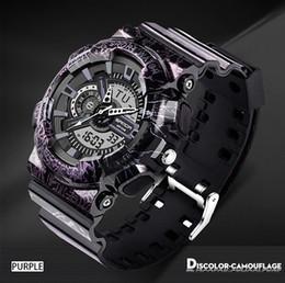 Wholesale Men S Watches Alarm - SANDA Men Sports Wrist Watch Fashion Camouflage G style Military Waterproof Male Digital S Shock Analog Quartz LED Digital Watch