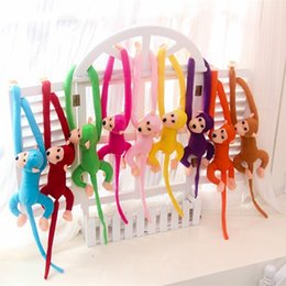 Wholesale Hung Monkeys - Wholesale- 1 pcs 70CM Hanging Long Arm Monkey from arm to tail Plush Baby Toys colorful Doll Kids Gift