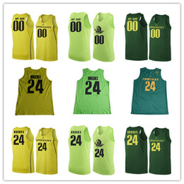 Wholesale Dark Green Jersey - Custom Mens Oregon Ducks College Basketball apple Dark Green yellow Personalized Stitched Any Name Any Number customized #24 Jerseys S-3XL