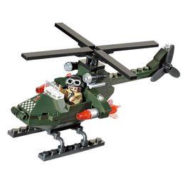 Wholesale Enlighten Aircraft - Enlighten Military Series Chase Aircraft Soldier War Building Blocks Bricks Model Assembled Sets Toys Children Gift
