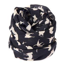 Wholesale Wholesale Ladies Winter Scarves - Wholesale- New Fashion Casual Autumn Winter Women Scarves Chiffon Wrap Lady Shawl Chiffon Scarf Female Scarves Wraps