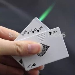 Wholesale Poker Styles - Wholesale-Free Shipping 1X Creative Spade A Pattern Windproof Lighter Poker Style Lighter Can Refilled Butane Not Include