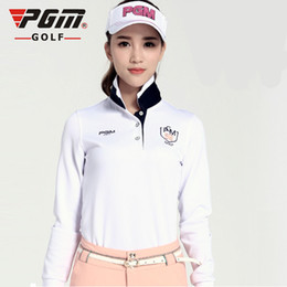 Wholesale Long Sleeve Polyester Polo Shirts - 2017 New Womens Golf Polo Shirts Fashion Long Sleeve Autumn Winter Golf Shirts Ladies Golf Clothing Apparel Quick Dry Sportswear