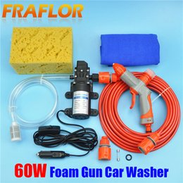 Wholesale 12v High Pressure Washer - Wholesale-New Portable 12V DC Vehicle-mounted High Pressure Car Washer Washing Machine Device With Multi-functional Foam Nozzle+Free Gift