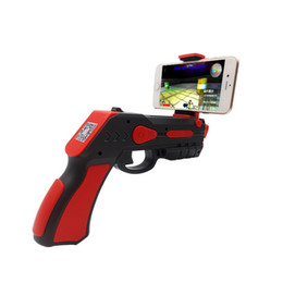 Wholesale Game Gun - AR game gun gamepad AR Game Gun Bluetooth Toys Gun Ar Blaster for iPhone Android Smart Phone childrens toy free shipping style b