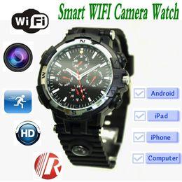 Wholesale Spy Wrist Watches - Y31 Wifi Smart Watch 720P HD wireless remote monitoring Quartz Wrist Watch with hidden Camera Compass Voice Video Recording spy camera ann