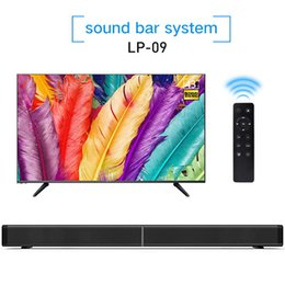 Wholesale Wireless Soundbar Speaker - Soundbar LP-09 Bluetooth Speaker 2.0 Channel Wired and Wireless Bluetooth TV Soundbar Audio 31.5 Inch 40W Built-In Subwoofer Remote Control