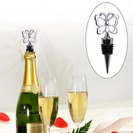 Wholesale Butterfly Bottle Stopper - Butterfly Theme Wine Bottle Stopper wedding favors and gifts 100 pcs lot DHL Fedex Free shipping