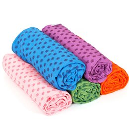 Wholesale Thick Yoga Mats Wholesale - Non-Slip Thick Yoga Mat Cover Towel Blanket Sport Fitness Exercise Pilates Workout Sweat Absorb Durable Yoga Blankets