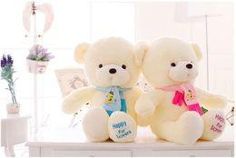 Wholesale Teddy Bear Wedding Decorations - Birthday Valentines Gift Scarf Baby Bear Wedding Plush Toy High Quality Teddy Bear Doll 2 Colors Size 30cm gift Home Decoration