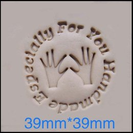 Wholesale Mini Soap Molds - Wholesale- hands pattern Handmade soap stamp mold chapter mini DIY patterns resin chapter molds 3.9*3.9cm
