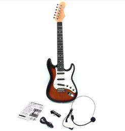 2019 mejor guitarra hueca Teclado electrónico para niños, Toy Guitar, juguete del rompecabezas del bebé, guitarra eléctrica de 3-6 años de edad puede conectar la computadora del teléfono móvil