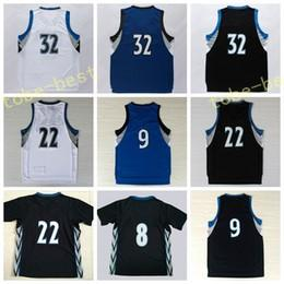 Wholesale Brown Butler - 2017 New 23 Jimmy Butler 32 Karl-Anthony Towns Basketball Jerseys Karl Anthony 22 Andrew Wiggins Black Blue White Shirt Stitched With Name