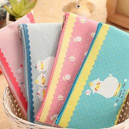 Wholesale Korean Japanese Stationery - Wholesale-1 Pcs Cute Kawaii Korean Japanese Animal Sheep Pencil Bag Pouch School Tools For Girls Supplies Stationery