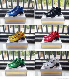 Wholesale Dot Shoes Woman - 2017 NMD Runner Primeknit Men'S Running Shoes Fashion Running sneakers for Men and Women Human Race Free Shipping kids