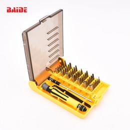 Wholesale Chrome Vanadium - CRV 45 in 1 chrome vanadium mobile repair tools for Phone computer tool sets 100set lot