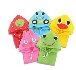 Wholesale Babies Rain Coats - Kawaii Kid Raincoat Waterproof Thicken Baby coat poncho cloak Home Rain Gear Item Stuff Accessories Supplies Products