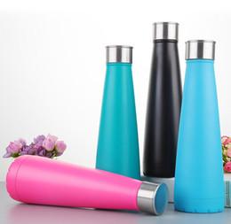 Wholesale Healthy Cup - Stainless Steel 500ml Coke Bottle Beer Mug Vacuum Insulation Cup Creative Cup Healthy Drinking Water bottle Vacuum Cup Coke mug KKA1790