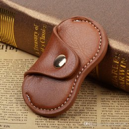 Wholesale Clothe Hand Bags - Brown Retro Leather Sheath Hand Spinner Bags Case For Fidget Spinners Durable Storage Containers Box High Quality 4 5ym R