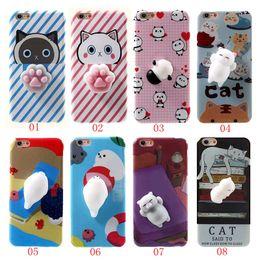 Wholesale Panda Cartoon Case - Squishy 3D Cartoon Soft TPU Cat Panda Sea Lion Cat's Paw Soft Silicone Case For iPhone 7 7 Plus 6 6s Plus BE0444A