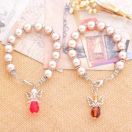 Wholesale Customizable Jewelry - Wholesale- MJARTORIA DIY Steel Wire String Beads Bracelet Unique Angel Charm Pendant Handmade Customizable Bracelets&Bangles Jewelry Making