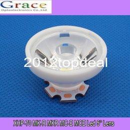 Wholesale Cree Mce - Wholesale-10pcs Cree XHP70 XHP-70 MK-R MKR MC-E MCE Led Lens 5 Degree Optical Grade PMMA Led Lens 29X16MM 10PCS LOT