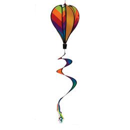 tapete de boxwood falso Desconto 11 * 55 Polegada Rainbow Stripe Balão de Ar Quente Vento Girador Inclui Curlie Cauda Colorido Cinética Decoração de Suspensão 10 pçs / lote DEC275
