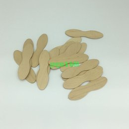 Wholesale Woods Foods - Free shipping 100pcs Wooden Ice Cream Spoon DIY Material Batten Round shape dessert spoon Food grade candy Short tableware