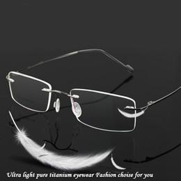 2019 китайские игровые компьютеры Оптово-очки без оправы титановые óculos de sol стекло оптические мужчины 1623 рецепт классический зрелище бизнес близорукость свет